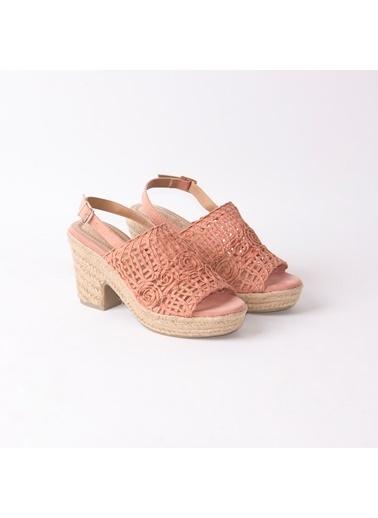 Guja GUJA 241 Hasır Taban Kadın Topuklu Ayakkabı Pembe